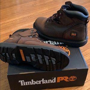 """Timberland Pro - PitBoss 6"""" Soft Toe Work Boots"""